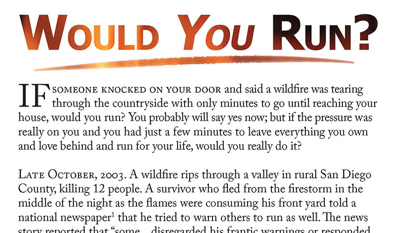 Free Gospel Tract - Would You Run? - Sovereign Grace Community Church