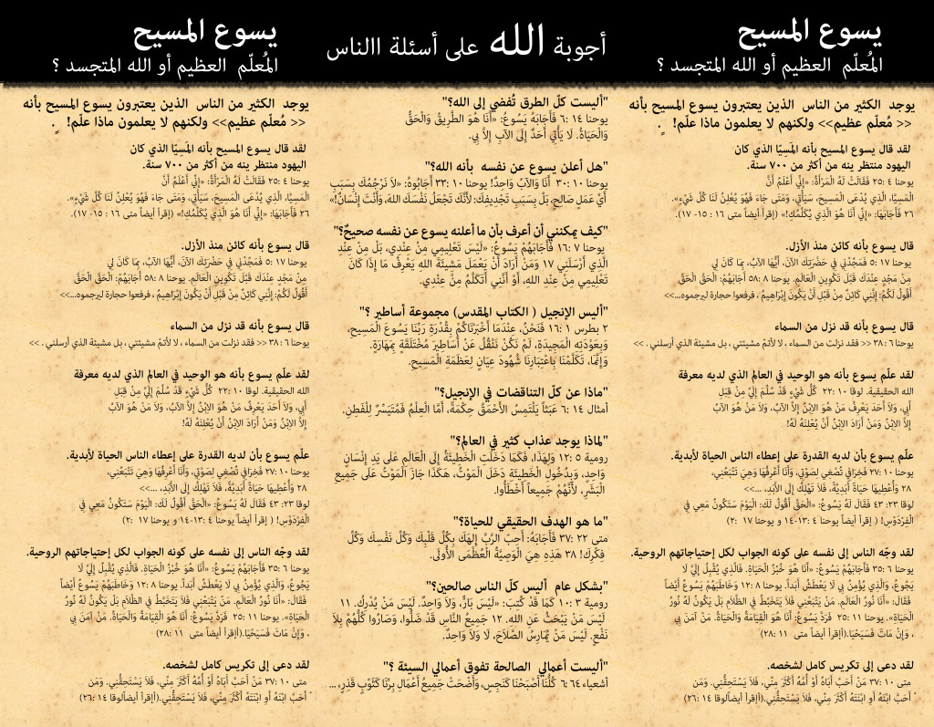 arabic gospel tracts